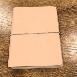 Pink leather journal/ notebook